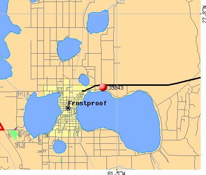 Frostproof, FL (33843) map