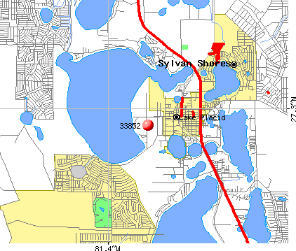 Lake Placid, FL (33852) map