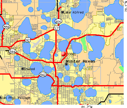 Winter Haven, FL (33881) map