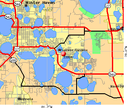 Winter Haven, FL (33884) map