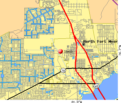 North Fort Myers, FL (33903) map