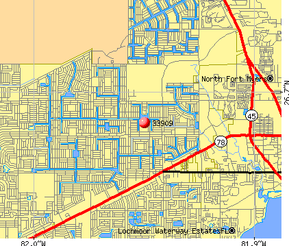 Cape Coral, FL (33909) map