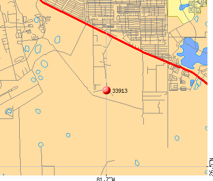 Fort Myers, FL (33913) map