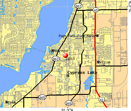 McGregor, FL (33919) map