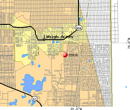 Lehigh Acres, FL (33936) map