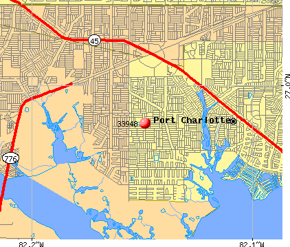 Port Charlotte, FL (33948) map