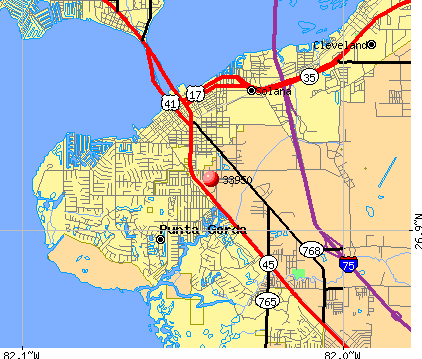 Punta Gorda, FL (33950) map