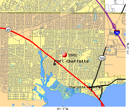 Port Charlotte, FL (33952) map