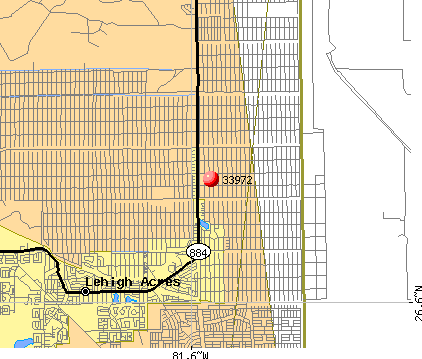 Lehigh Acres, FL (33972) map