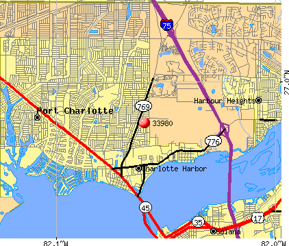 Charlotte Harbor, FL (33980) map