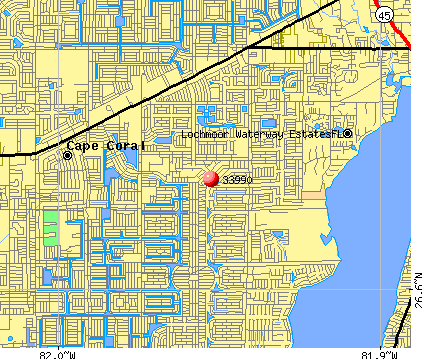 Cape Coral, FL (33990) map
