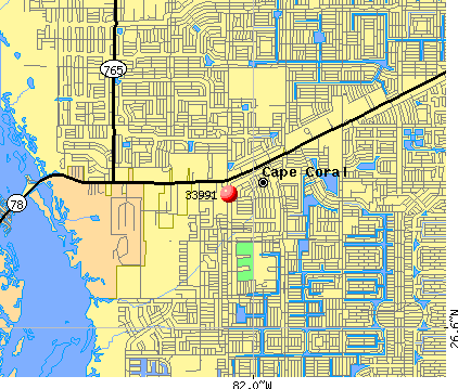 Cape Coral, FL (33991) map