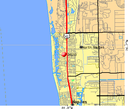 Naples, FL (34103) map