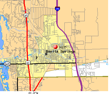 Bonita Springs, FL (34135) map