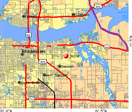 Bradenton, FL (34208) map