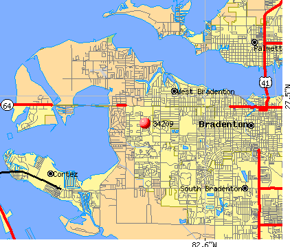 Bradenton, FL (34209) map