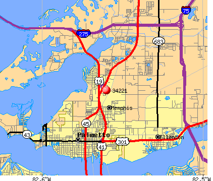 Palmetto, FL (34221) map