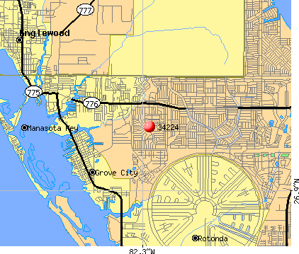 Englewood, FL (34224) map