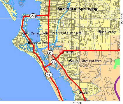 Gulf Gate Estates, FL (34231) map