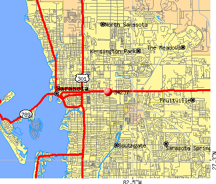 Sarasota, FL (34237) map