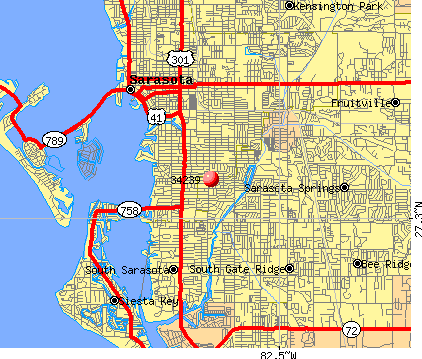 Sarasota, FL (34239) map
