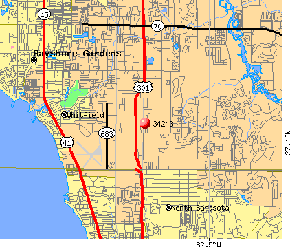 Whitfield, FL (34243) map