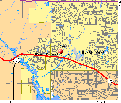 North Port, FL (34287) map