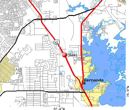 Hernando, FL (34442) map