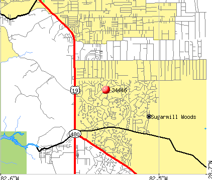 Sugarmill Woods, FL (34446) map