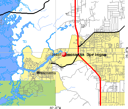 Homosassa Springs, FL (34448) map