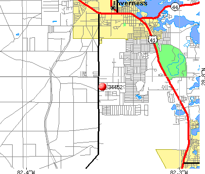 Inverness Highlands South, FL (34452) map