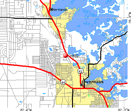 Inverness, FL (34453) map