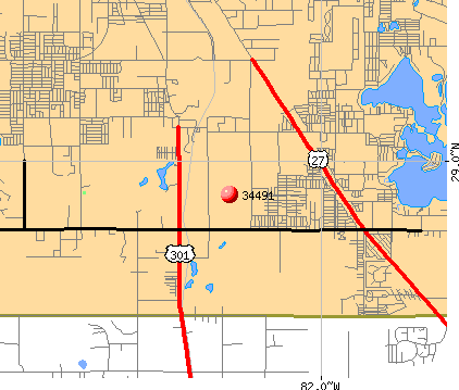 The Villages, FL (34491) map