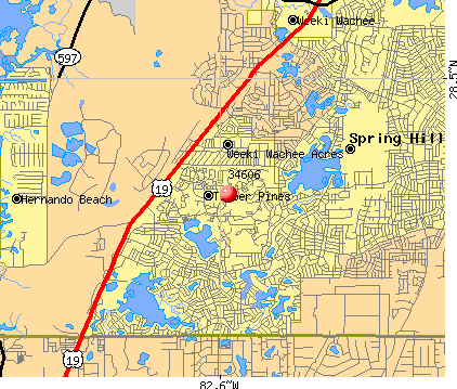 Spring Hill, FL (34606) map