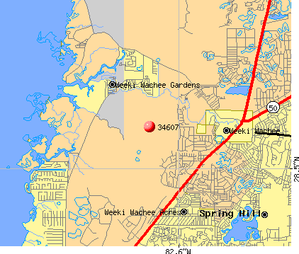 Hernando Beach, FL (34607) map