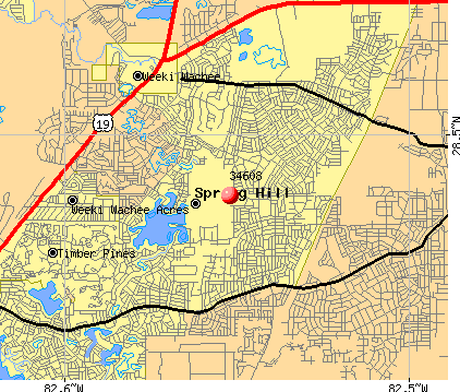 Spring Hill, FL (34608) map