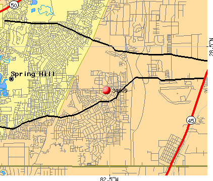 Spring Hill, FL (34609) map