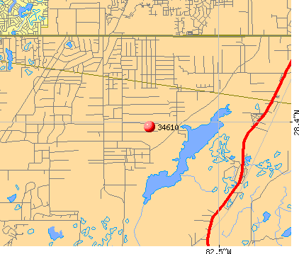 Shady Hills, FL (34610) map