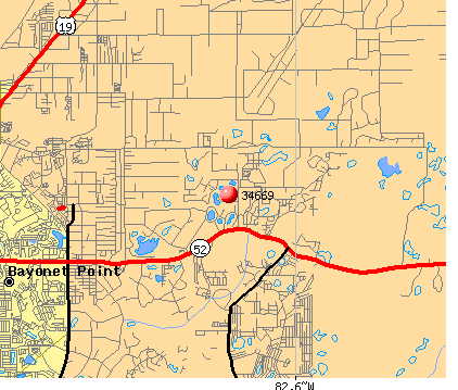 Shady Hills, FL (34669) map