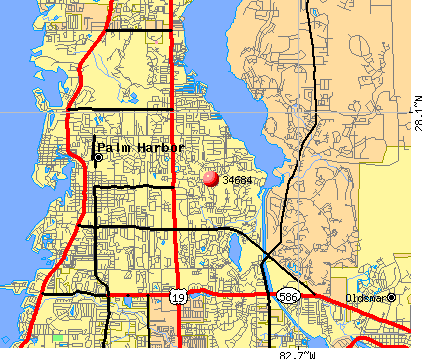 Palm Harbor, FL (34684) map