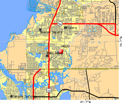 Holiday, FL (34690) map