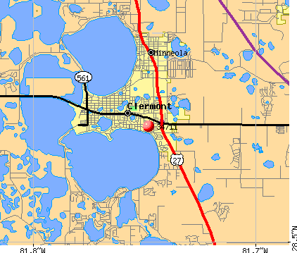 Clermont, FL (34711) map