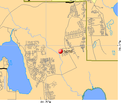Poinciana, FL (34759) map
