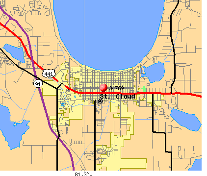 St. Cloud, FL (34769) map