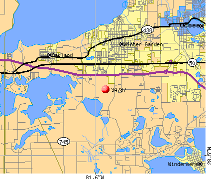 Horizon West, FL (34787) map