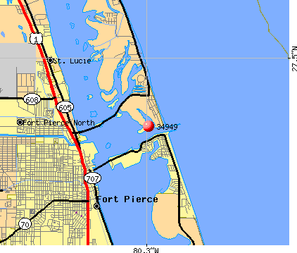 Fort Pierce, FL (34949) map