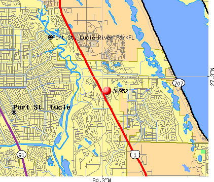 Port St. Lucie, FL (34952) map