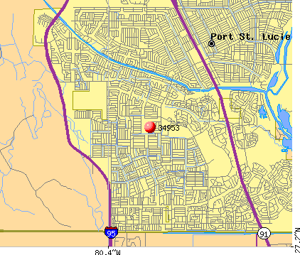 Port St. Lucie, FL (34953) map