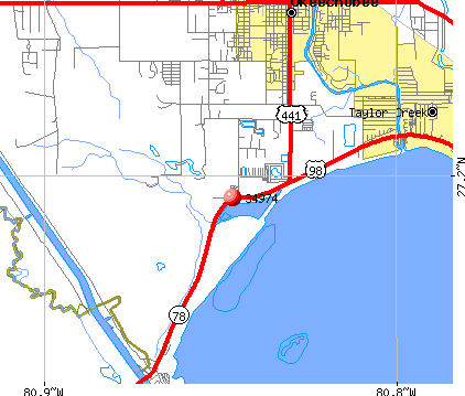 Taylor Creek, FL (34974) map