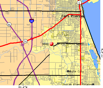 Fort Pierce, FL (34981) map